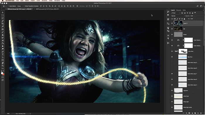 Photoshop Compositing Tutorial - Josh rossi wonder woman
