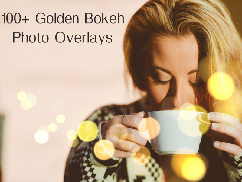 lens flare overlays 100+ Golden Bokeh Photo Overlays