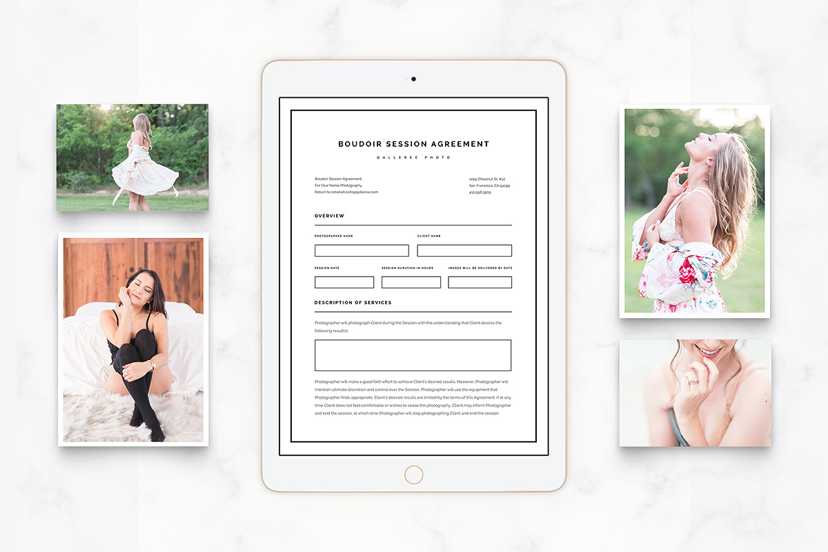 boudoir photography contracts