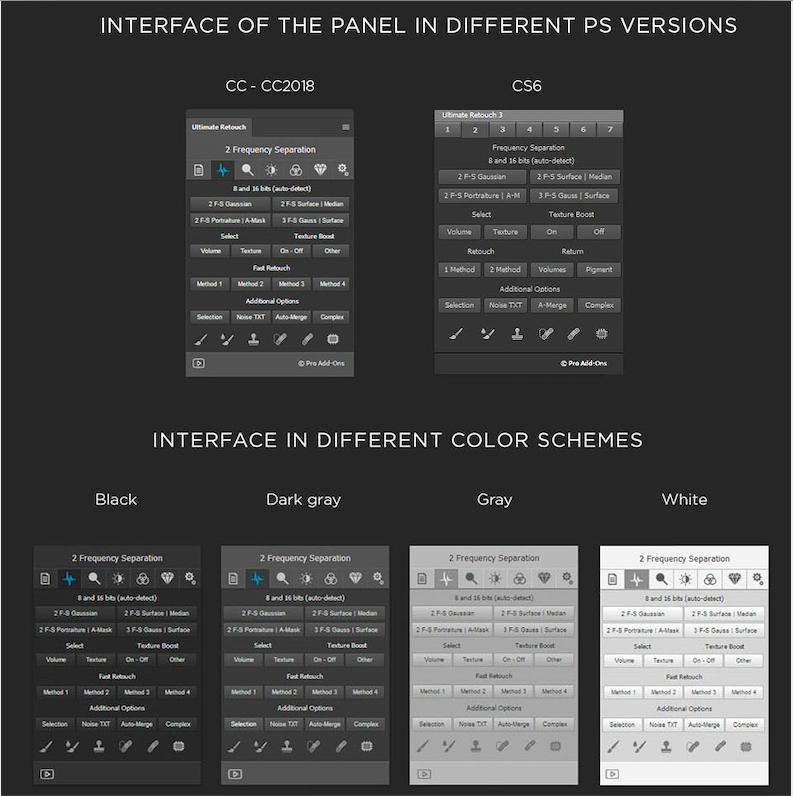ultimate retouch panel interface