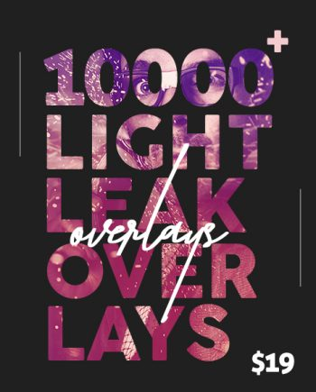 light leak overlays banner