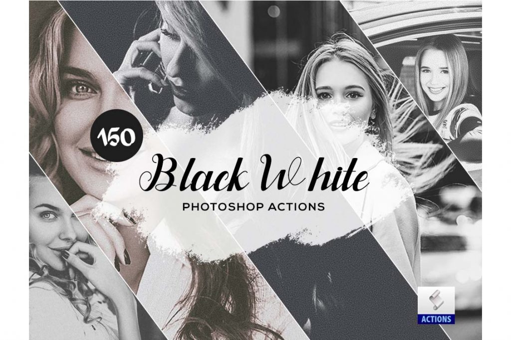 fashion photoshop actions black White