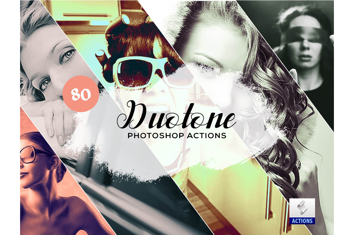 fashion photoshop actions duotone