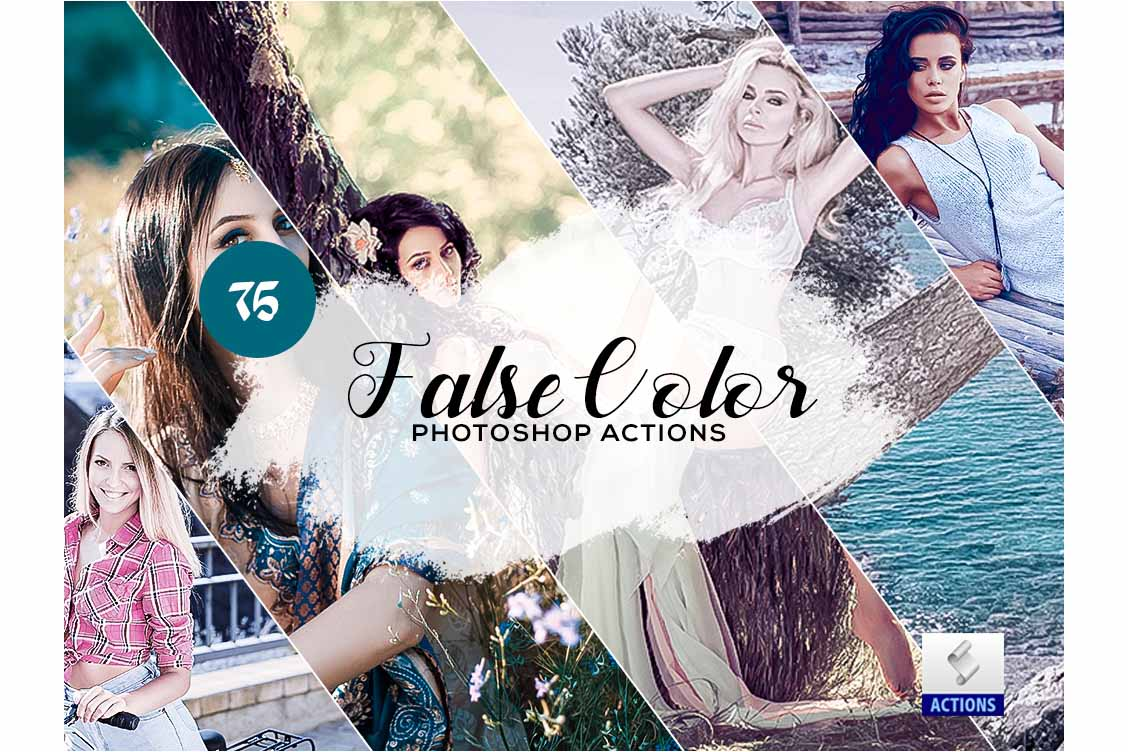 fashion photoshop actions false color