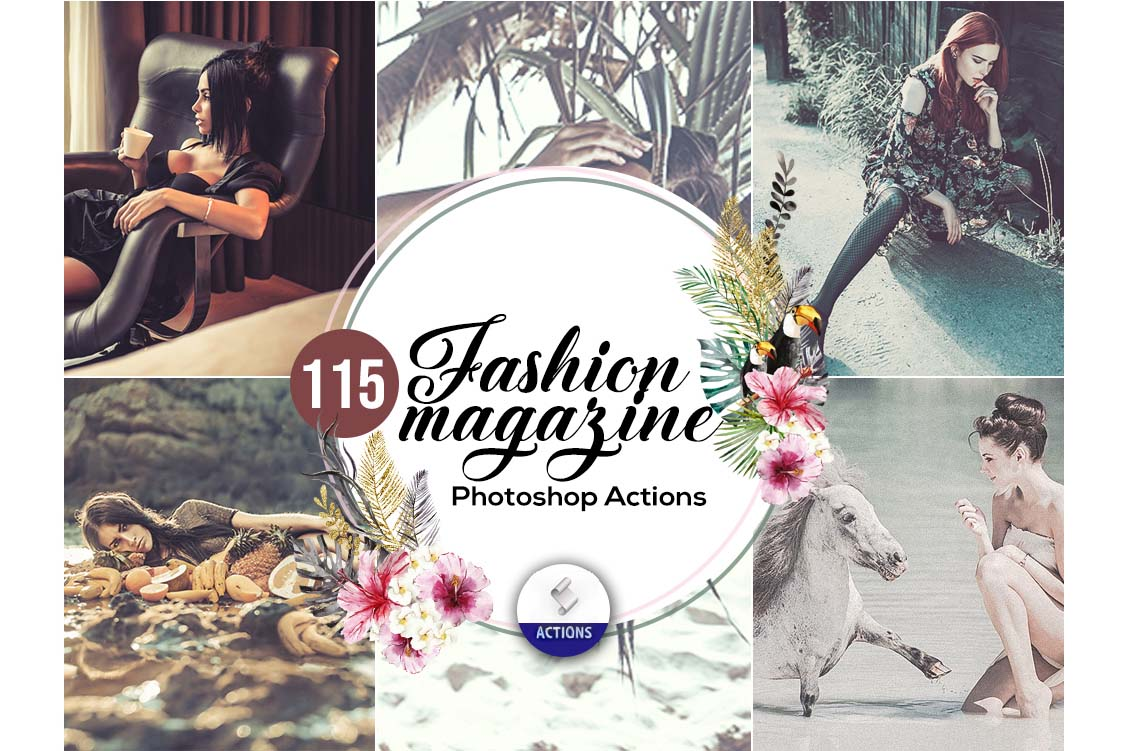 fashion photoshop actions fashion magazine
