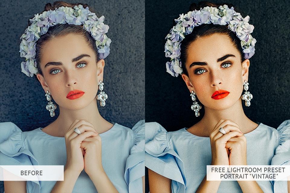 Vintage Portrait Presets: B & A