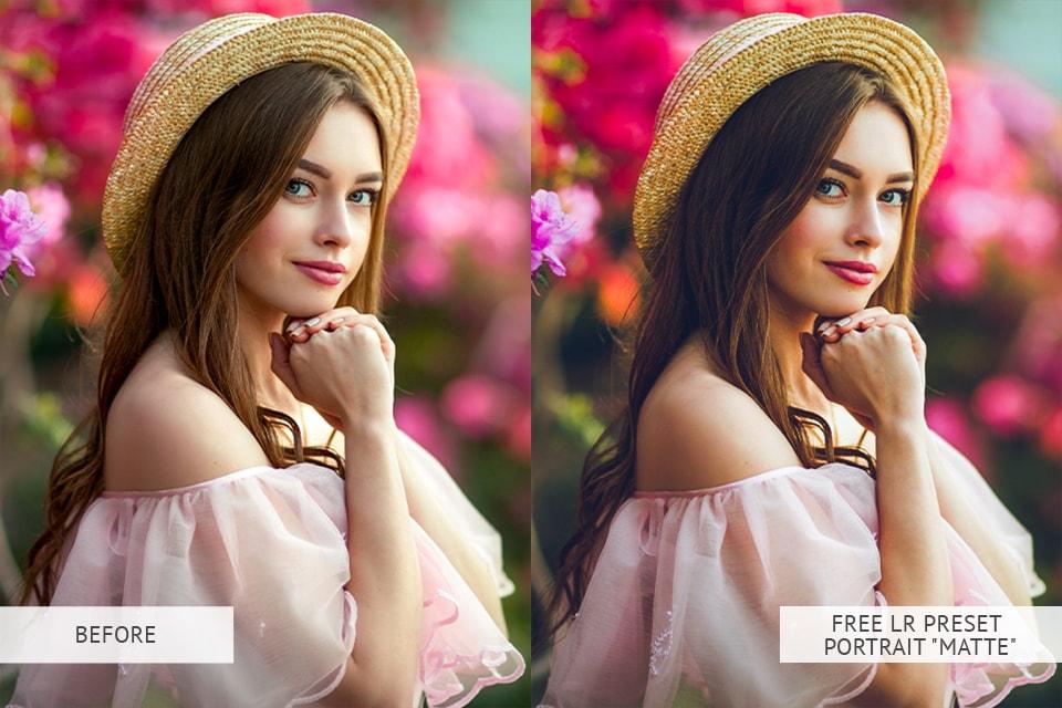 Matte Portrait Presets :B & W