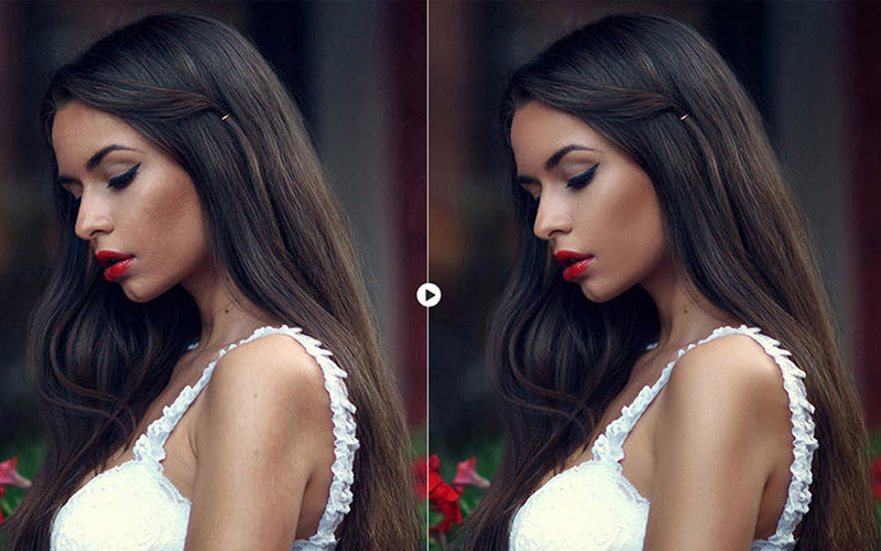 skin retouching in photoshop BEFORE & AFTER 10