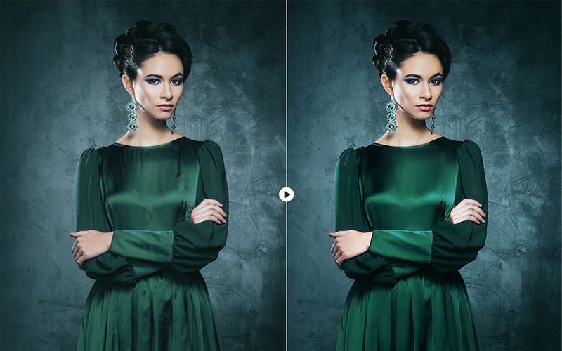 skin retouching in photoshop BEFORE & AFTER 2-2