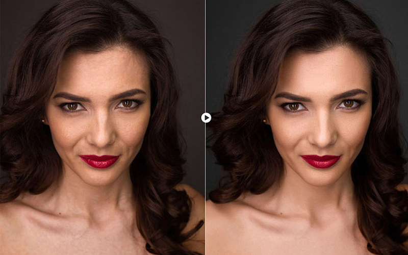 skin retouching in photoshop BEFORE & AFTER 3-1