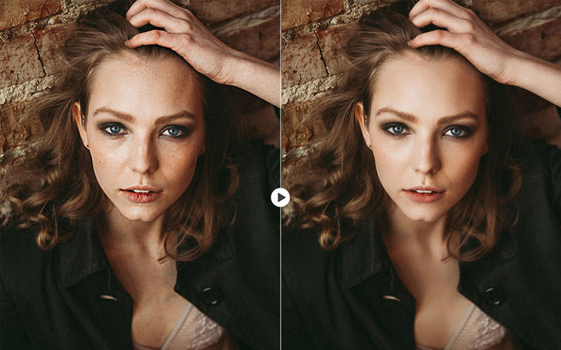 skin retouching in photoshop BEFORE & AFTER 4-1