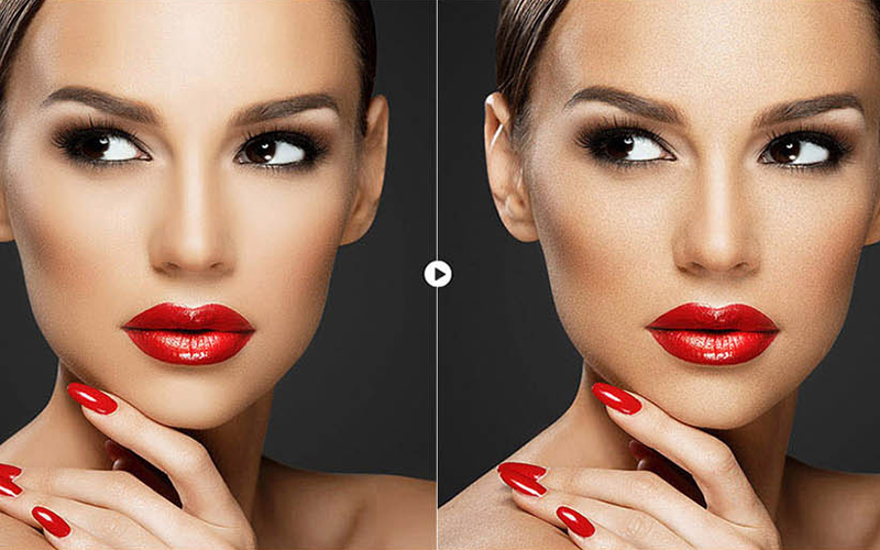 skin retouching in photoshop BEFORE & AFTER 8