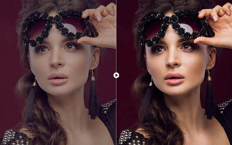 skin retouching in photoshop BEFORE & AFTER 9