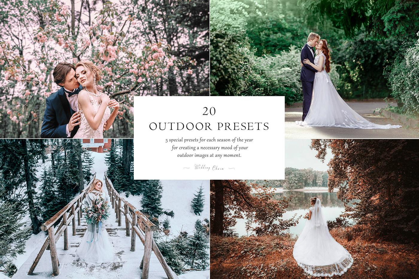 lightroom wedding presets common info table OUTDOOR 2