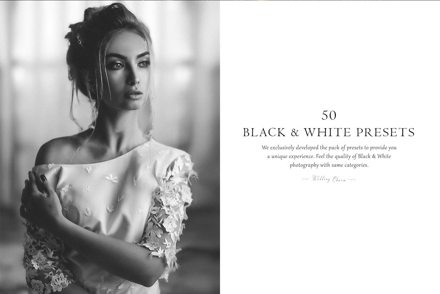 lightroom wedding presets common info table BW 2