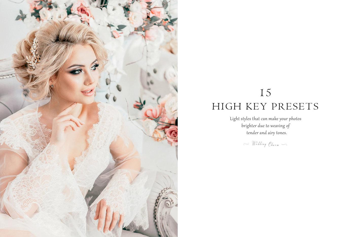 lightroom wedding presets common info tableHigh kEY 2