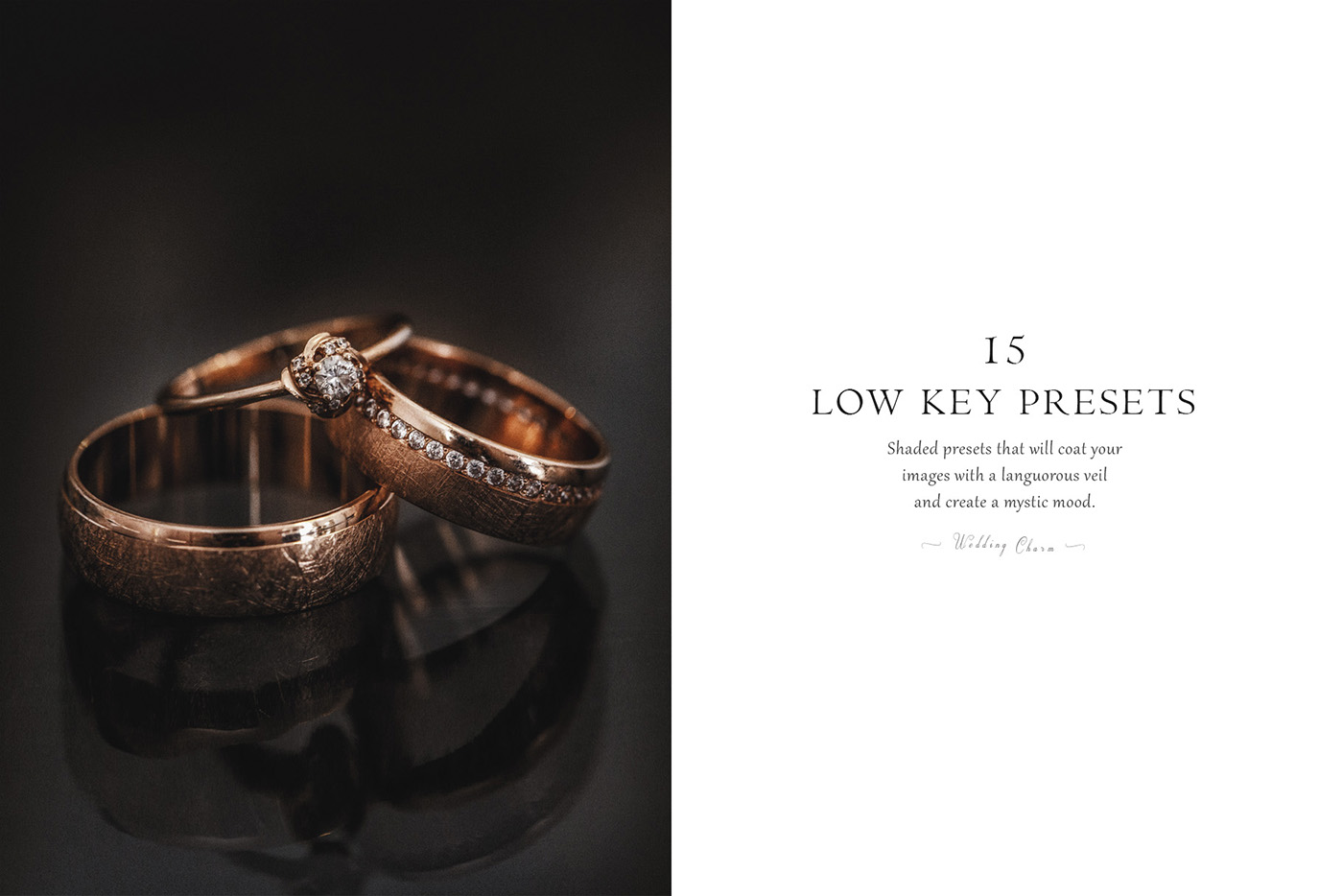 lightroom wedding presets common info tableLow key 2