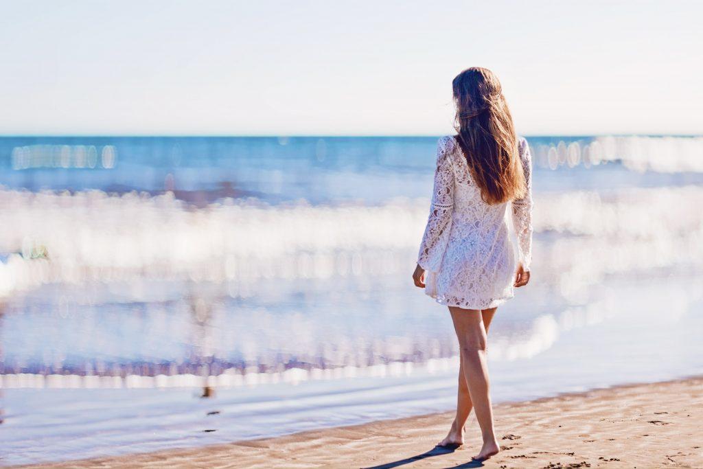 lens blur beach after