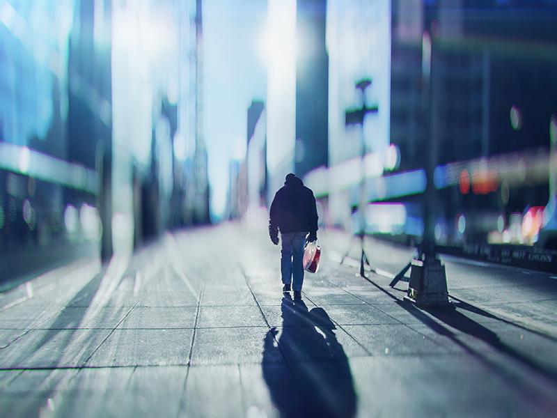 lens blur street