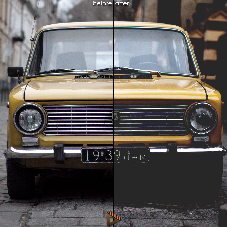 affinity presets car