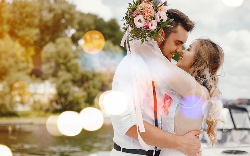 wedding overlays bokeh
