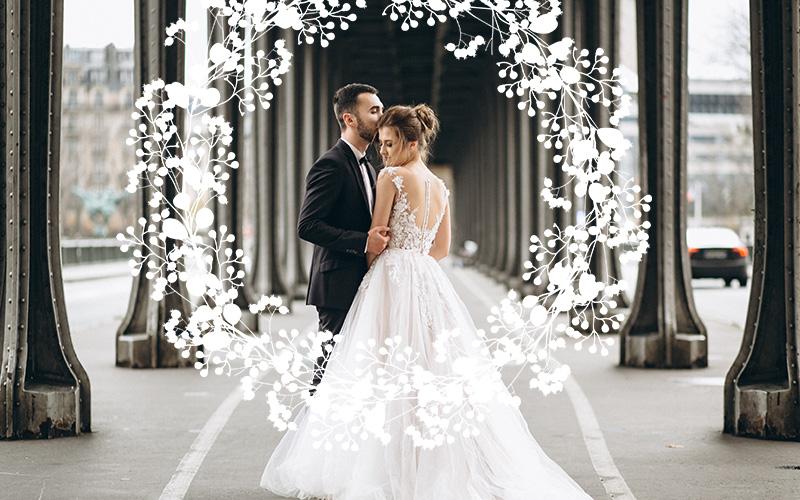wedding overlays floral art