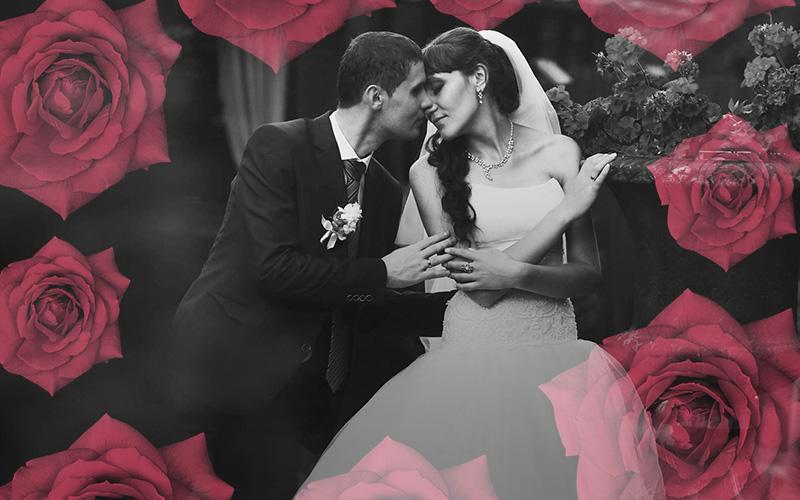 wedding overlays flowers