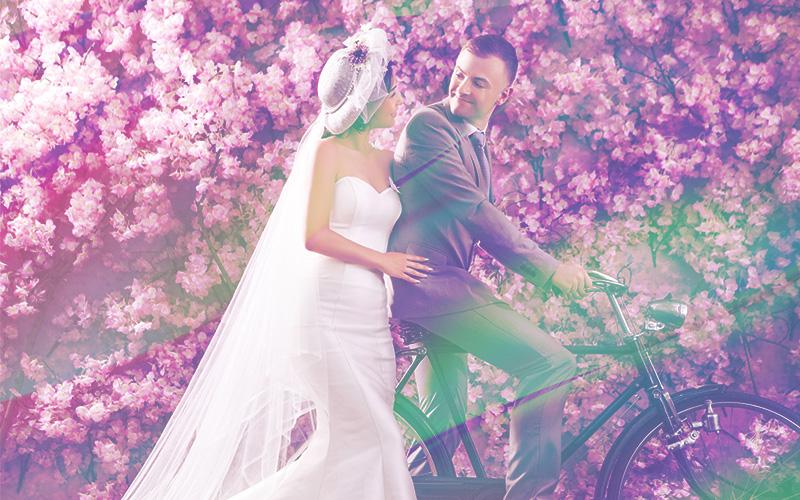wedding overlays neon satin