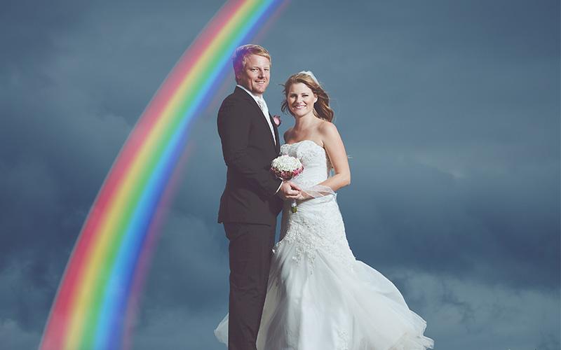 wedding overlays rainbow