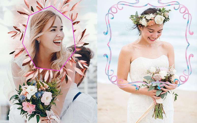 wedding overlays watercolor elements