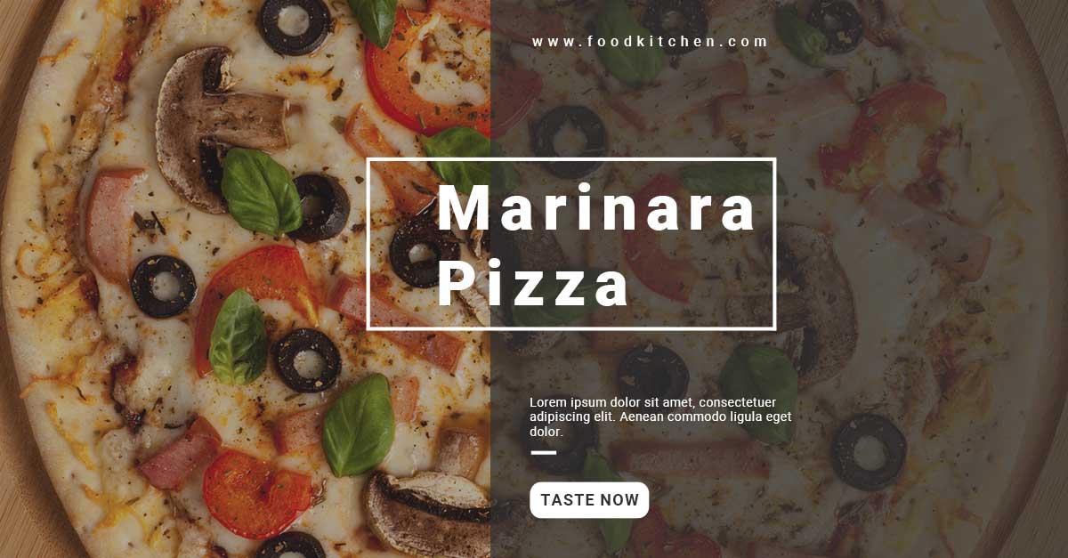 social media web templates facebook restaurant 2