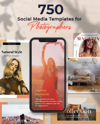 social media web templates feature