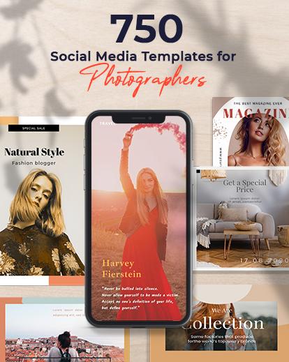 social media web templates feature