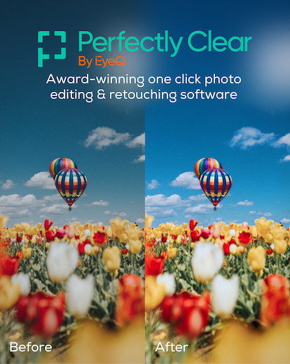perfectly clear software banner