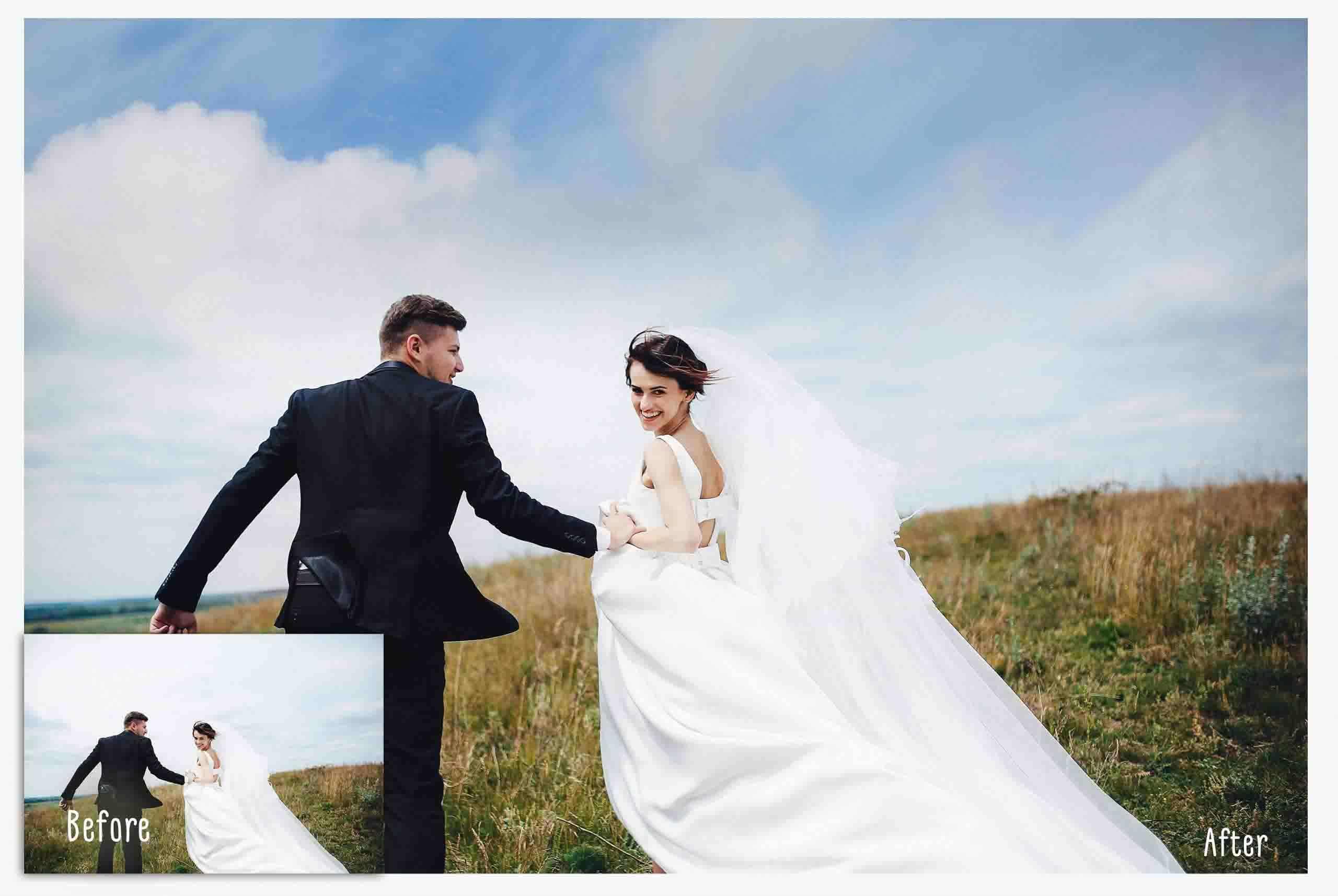 sky overlays wedding