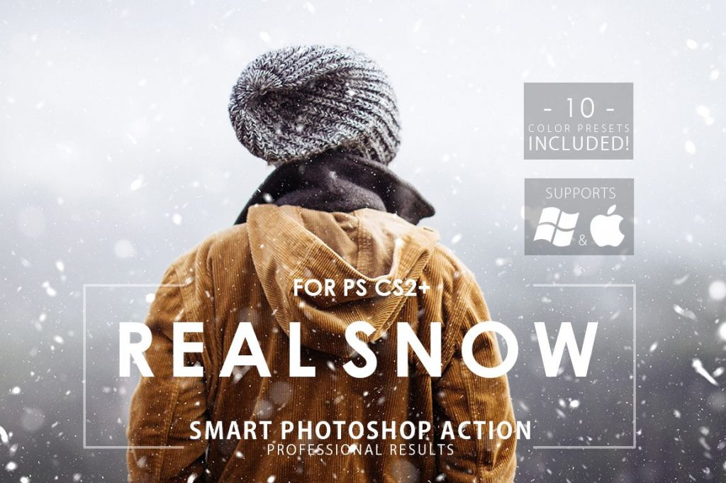 visual effect real snow