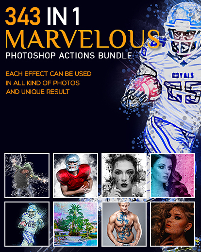 343 Artistic Photoshop Actions