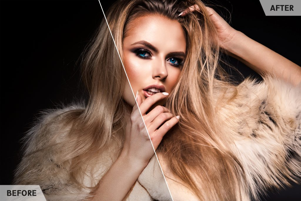 Luxury woman portrait with perfect hair and make-up. Blonde