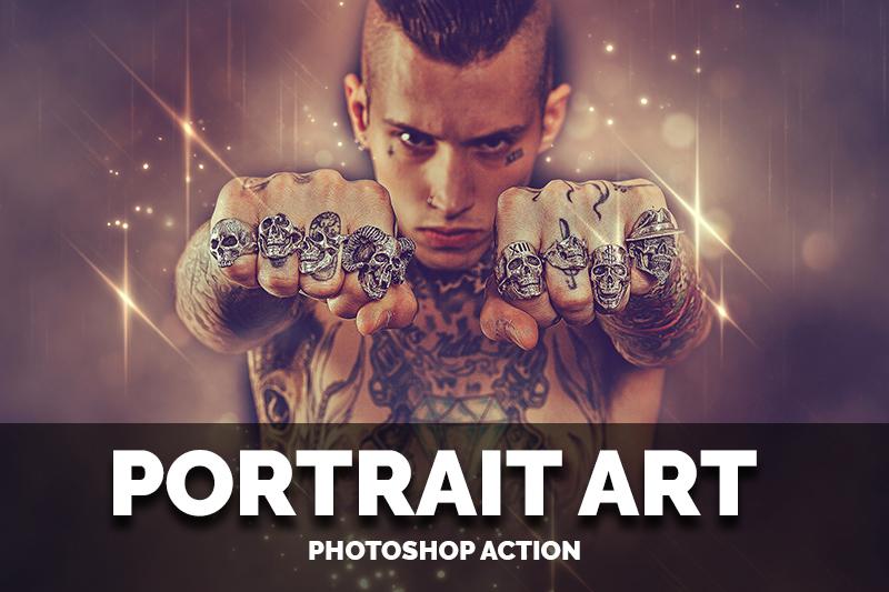 Portrait art Photoshop Actions