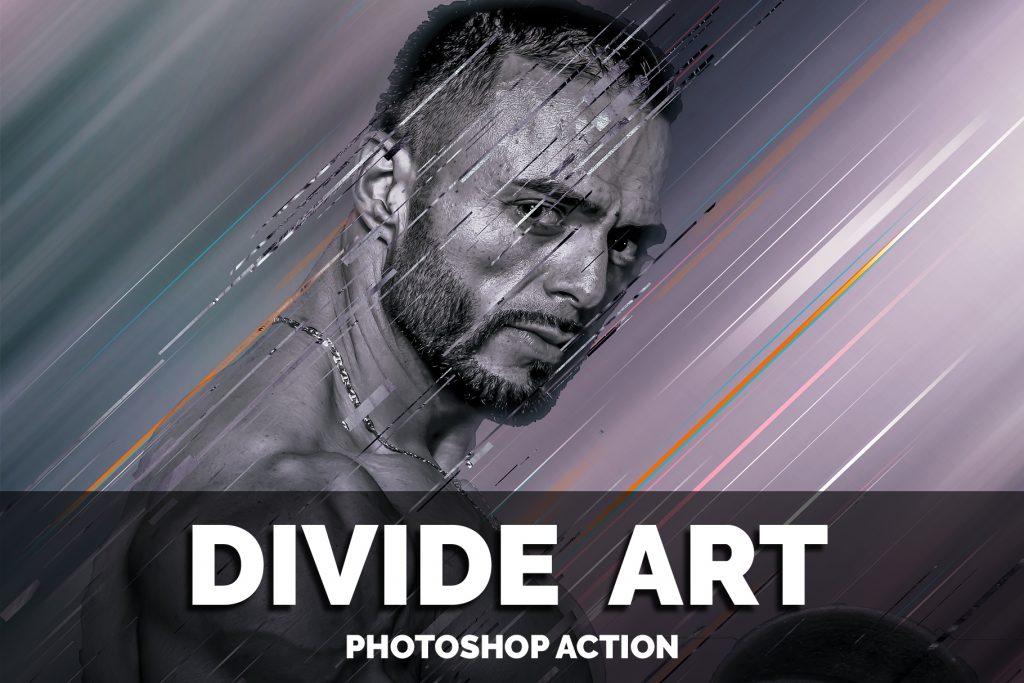 Divide art photoshop action