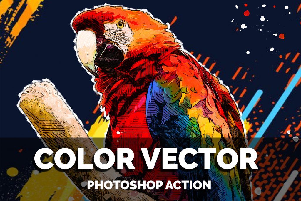 Color vector Photoshop Actions