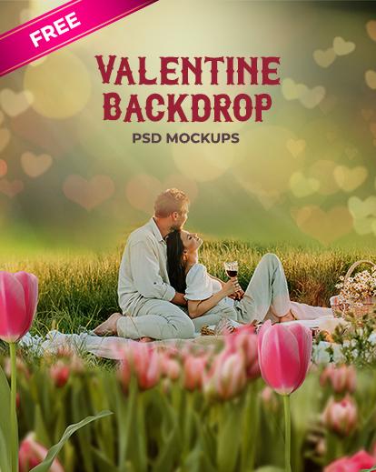 valentine backdrops