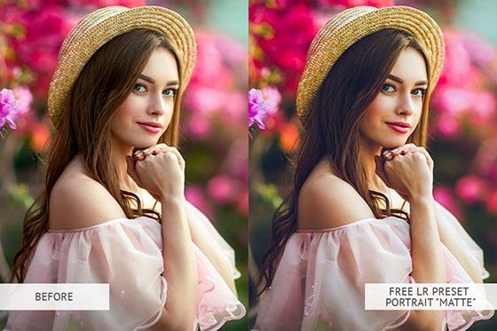 Matte Portrait Presets B & A