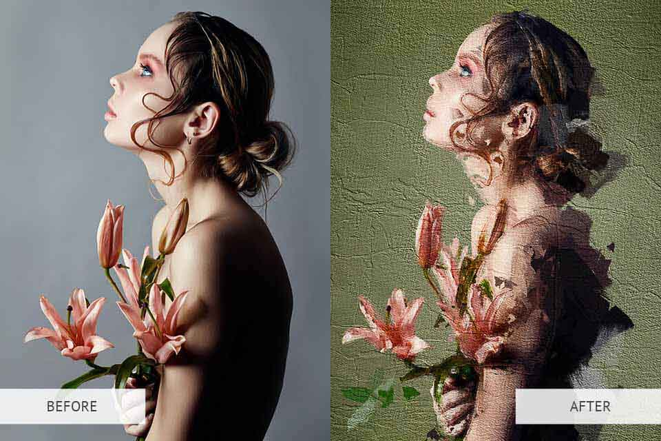 oil photoshop action for photographers